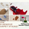 how to remove stains from carpet